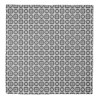 Reversible Black and White Equal Sign Pattern Duvet Cover