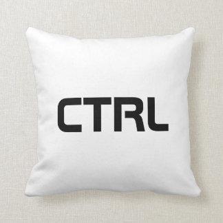 "reversible black white ""ctrl"" pillow"