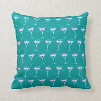REVERSIBLE Blue Martini American MoJo Pillow