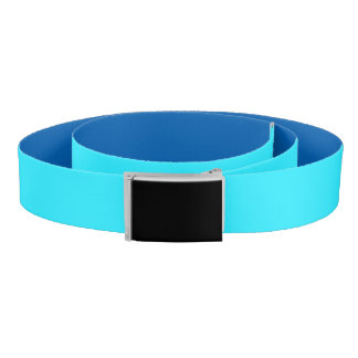 Reversible Blues: Turquoise & Royal Colors Belt