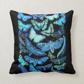 Reversible Butterflies & Moths Throw Pillow