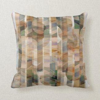 Reversible Canyon Falls Print Neutral Colors Throw Pillow