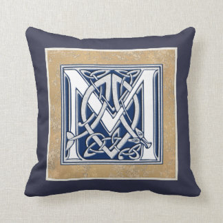 Reversible Celtic M Initial Throw Pillow
