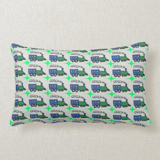 Reversible:  Choo-Choos Lumbar Pillow