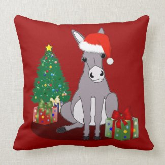 Reversible Cute Merry Christmas Donkey