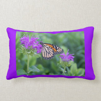 Reversible de la mariposa de monarca cojines