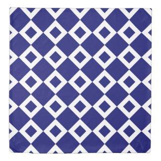 Reversible Deep Blue and White Diamond Patterns