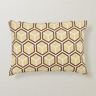 Reversible Golden Honeycomb Accent Pillow