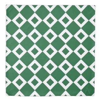 Reversible Green and White Diamond Patterns