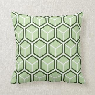 Reversible Green Honeycomb Pattern Pillow