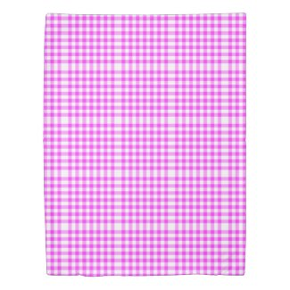 Reversible Hot Pink/Baby Blue Gingham Patterns