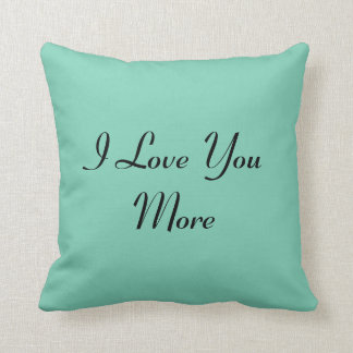 Reversible I Love You More Throw Pillow