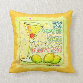 REVERSIBLE Lemon Drop Martini American MoJo Pillow