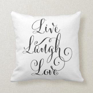 Reversible Live, Laugh, Love Pillow
