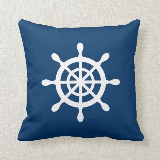 Reversible Nautical Throw Pillow Zazzle