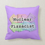 REVERSIBLE Nuclear Fizzacist Bartender American Mo Throw Pillows