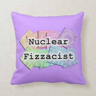 REVERSIBLE Nuclear Fizzacist Bartender American Mo Throw Pillow