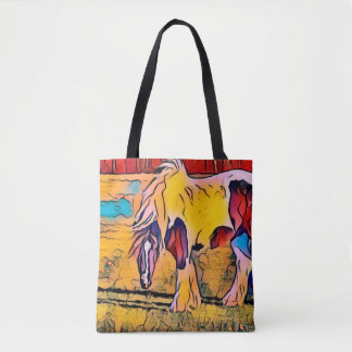 Reversible Painted Horse tote bag