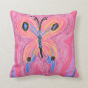 Reversible Pillow - Butterfly - Pink to Purple