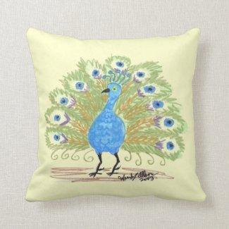 Reversible Pillow - Peacock - Green/Brown