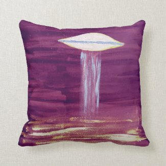 Reversible Pillow - UFO - Red/Purple - VISION-D8