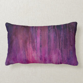 Reversible Pink/Green Abstract Dripping Paint Pillows