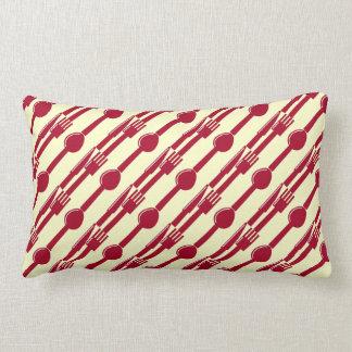 Reversible:  Place Setting Lumbar Pillow