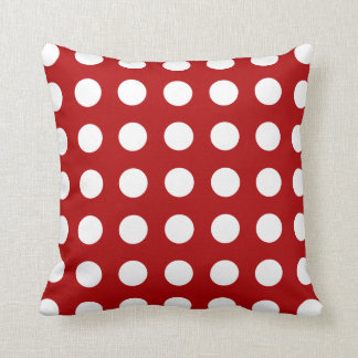 Reversible Red Green Polka Dot Pattern Pillow