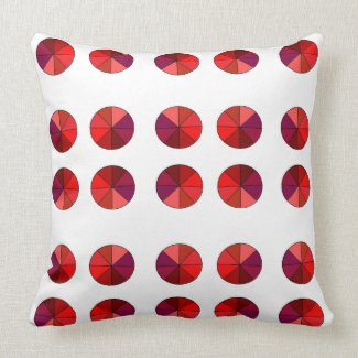 Reversible Red/Green Polka Dot Throw Pillow