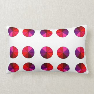 Reversible Red/Green Polka Dot Throw Pillow V2