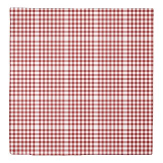 Reversible Red/Navy Gingham Patterns Duvet Cover