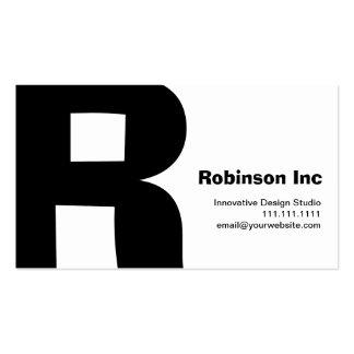 Reversible retro grande del R-Monograma del diseño Tarjeta De Visita