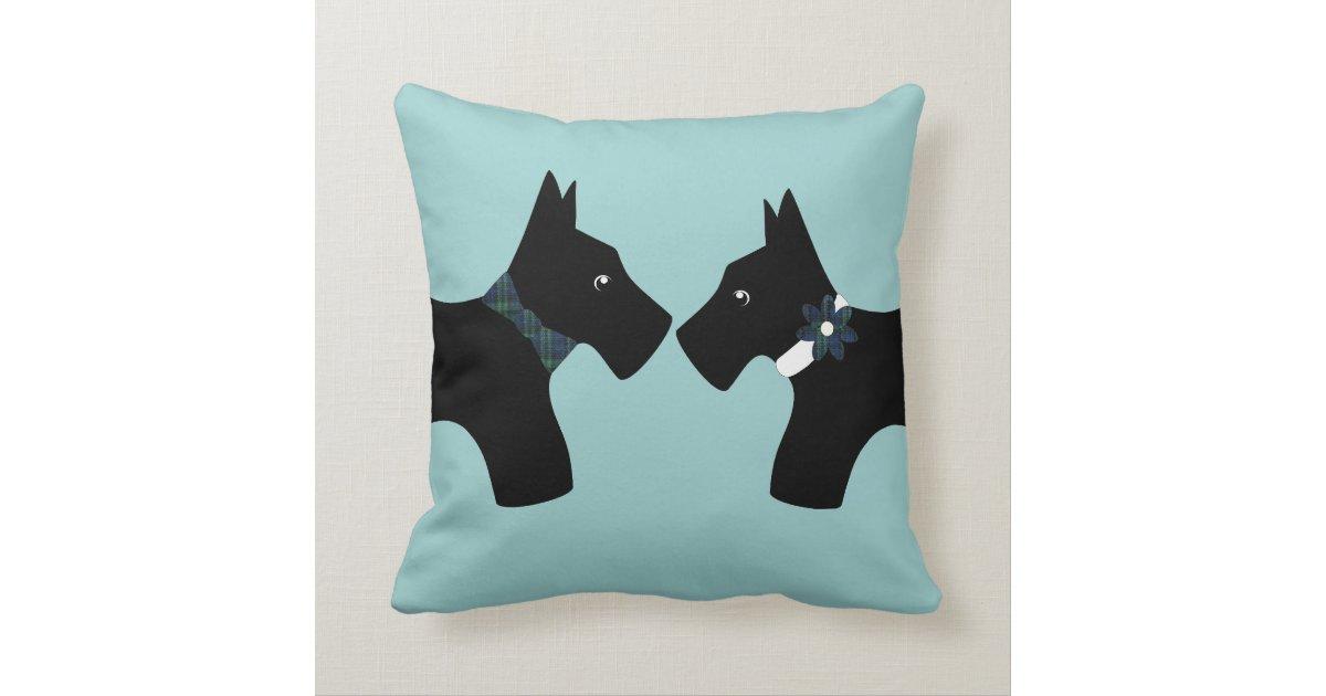 Reversible Scottie Dogs Throw Pillow Zazzle