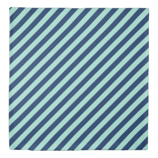 Reversible Seafoam Green and Navy Blue Stripes