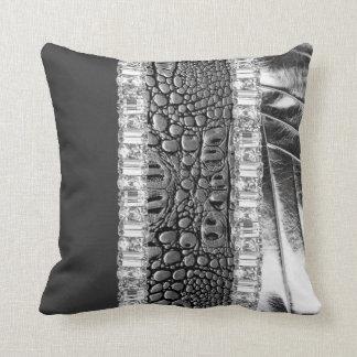 Reversible Silver Metallic Rhinestone Pillow