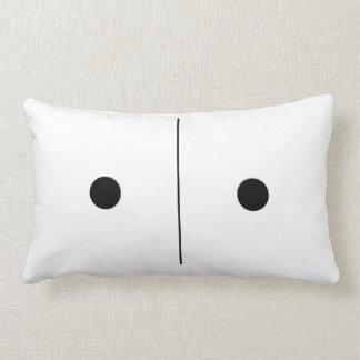 Reversible Snake Eyes Domino Pillow