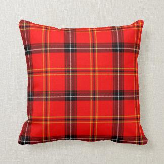 Reversible Tartan Plaid Design Throw Pillow