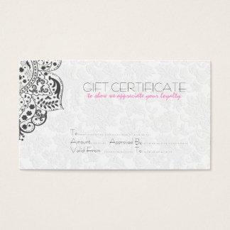 Reversible White & Gray Damasks Gift Card