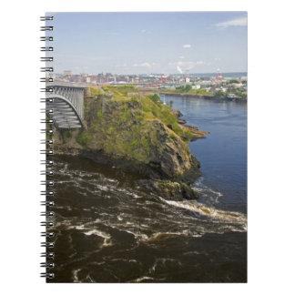 Reversing falls on the St. John River at St. Notebook