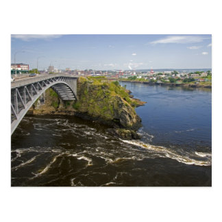 Reversing falls on the St. John River at St. Postcard