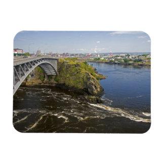 Reversing falls on the St. John River at St. Rectangular Magnets