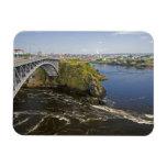 Reversing falls on the St. John River at St. Rectangular Photo Magnet
