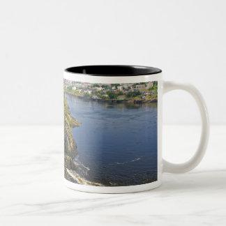 Reversing falls on the St. John River at St. Two-Tone Coffee Mug