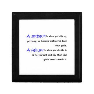 Revés contra fracaso cajas de recuerdo