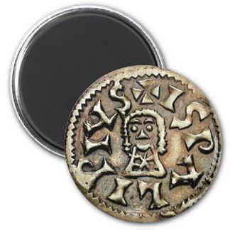 Revés de la moneda de oro de Visigoth Chindaswinth Imán Redondo 5 Cm