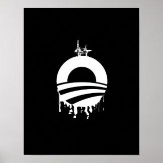 Revés de la plataforma petrolera de Obama Póster