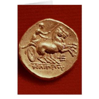 Revés de un stater de Philip II de Macedonia Tarjeta De Felicitación