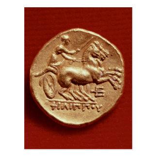 Revés de un stater de Philip II de Macedonia Tarjetas Postales