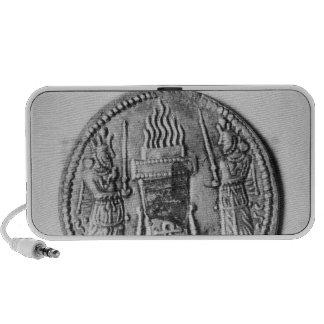 Revés de una moneda de Shapur II Mini Altavoces