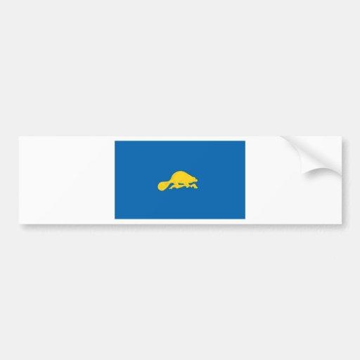 Revés oficial de la bandera del estado de Oregon Pegatina Para Auto